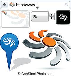 Business sun abstract logo design. - Business vector sun...