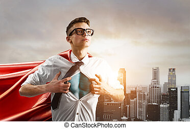 Business super hero