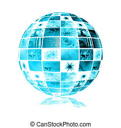 Business System Abstract Background - Global Business System...