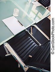 business table in office