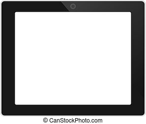 Business tablet landscape orientation with blank screen...