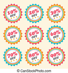 business tag set and sale label - vector business tag set...