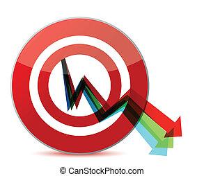 Business target marketing concept illustration design over a...