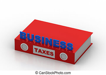 Business tax concept