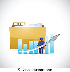 business tax folder illustration design