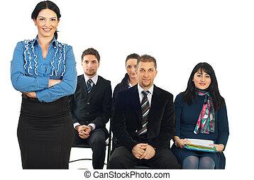 Business teacher woman