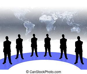 business team-2 - business team shadows