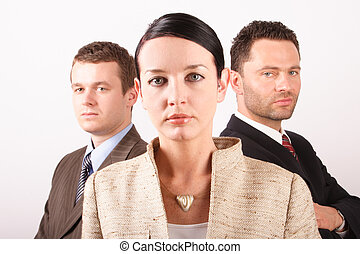business team 8 - Three persons business team - close up