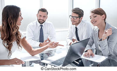 business team analyzing financial data.