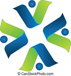 Business team around logo vector