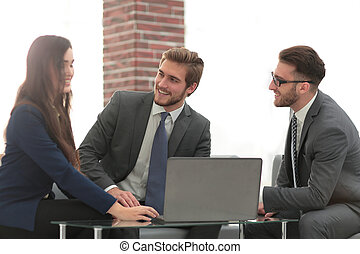 Business team at a meeting.