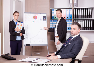 Business team at a meeting in office