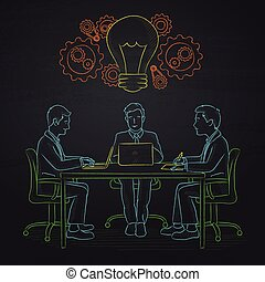 Business team brainstorming. - Business people sitting at ...