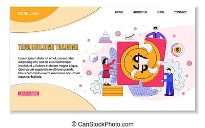 Business Team Building Training template showing business ...