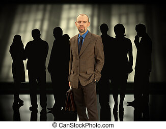 Business team - Businessman with his group(made from my...