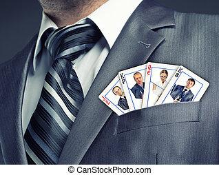 Business team cards