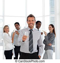 Business Team Celebrating Success