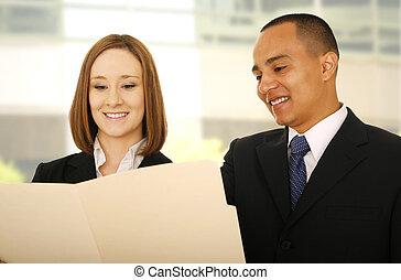 Business Team Check Folder