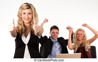 Business team Cheering