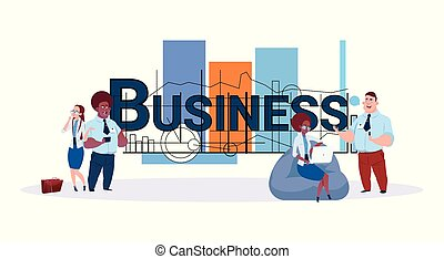 Business Team Concept Group Of Creative Businesspeople Working Together Over Modern Geometrical Abstract Background