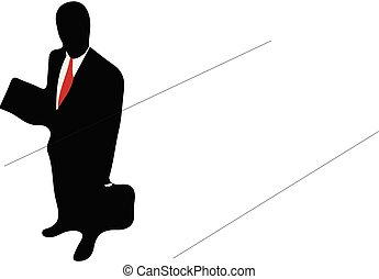 business team concept on white background