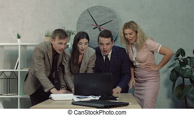 Business team disappointed by business failure