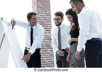 business team discussing a new idea.