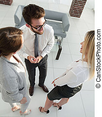 business team discussing in office.