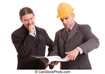Business team discussing new project