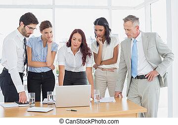 Business team discussing work detai