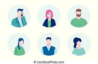 Business team - flat design style illustration