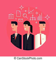 Business Team Flat Illustartion