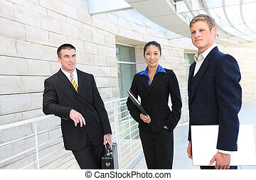 Business Team (Focus on Woman)
