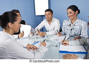 Business team friends having fun at meeting - Business team...
