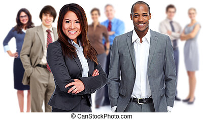 Business team. - Group of business people isolated white...