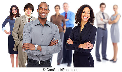Business team. Group of workers people isolated white...