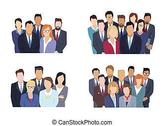 Business Team Group Portrait collection - Business team...
