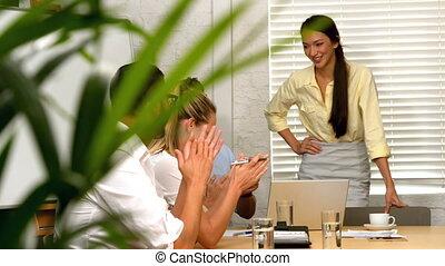 Business team having a meeting
