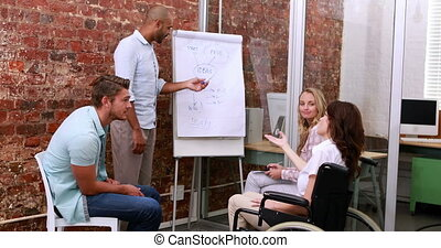 Business team having a meeting - Casual business team having...