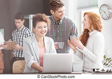 Business team having casual meeting