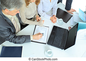 business team holding a discussion