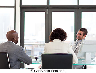 Business team in a meeting