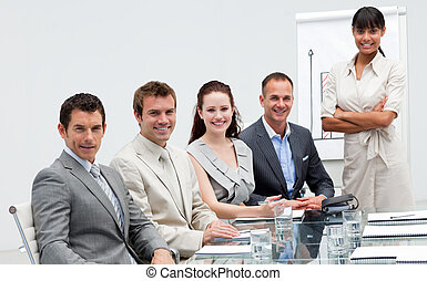 Business team in a presentation