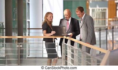 business team in discussion close