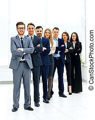 Business team in modern office