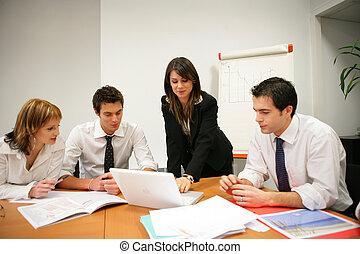 Business team in sales meeting
