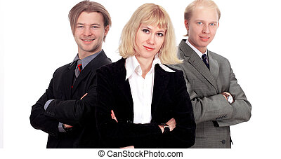 Business team isolated in the white background