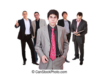 Business team isolated