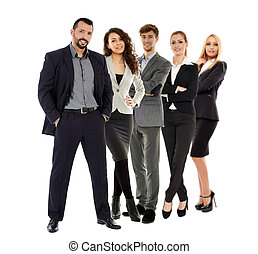 Business team isolated on white