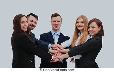 business team isolated over white background.